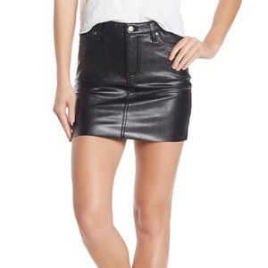 Love, Fire New Black mini Skirt sz 32 faux eather